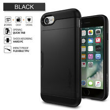 Spigen iPhone 7 Slim Armor CS Case Black Drop-tested Military Grade Convenient