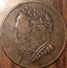 1820 LOWER CANADA BUST AND HARP HALF PENNY TOKEN IN GREAT CONDITION !