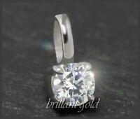 Diamant 585 Gold Damen Anhänger; Brillant 0,32ct, Si2; inklusive DGI Zertifikat