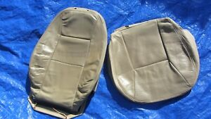 99 00 01 Saab 9-3 OEM Convertible Tan Driver Left Side Leather Seat Covers