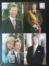 royal family royalty set of 4 maximum card Luxembourg 2006