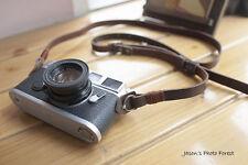 Handmade Real Leather camera strap neck strap for film camera EVIL camera 01-074
