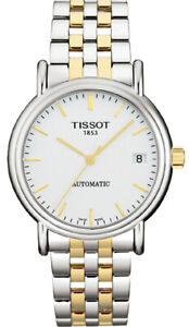 Tissot Swiss Made T-Classic Carson Automatic 2 Tone Gold Plated Men's Watch