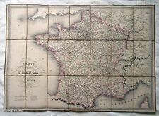 CARTE ROUTIÈRE DE LA FRANCE 1842