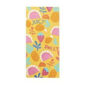 Mainstays Beach Towel Fruit Theme 28 x 60