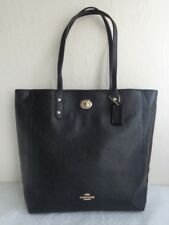 Coach NWT F12184 Pebble Leather Town Tote Black