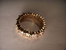 Magnificent Estate 14K Pink Rose Gold Diamond Eternity Wedding Band Ring
