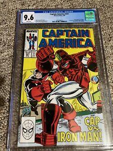 Captain America #341 CGC 9.6 1st appearance of Left & Right Winger & Battlestar