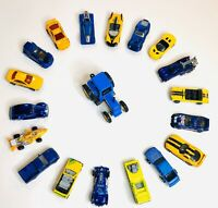 Lot of 19 Diecast and Plastic Toy Cars Shing Fat Tractor Hot Wheels Matchbox