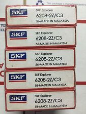 SKF BEARINGS - PART# 6208-2Z/C3 - LOT OF 5 PCS. NEW