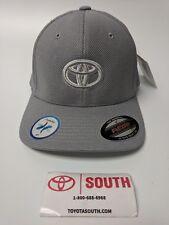 NEW Toyota Emblem Flexfit Cap Adult Size Cool & Dry Gray Hat Yupoong