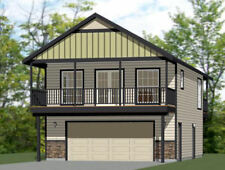 24x30 House -- 1 Bedroom 1.5 Bath -- 830 sq ft -- PDF Floor Plan -- Model 7B