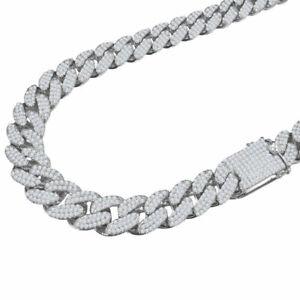 "Men""s Custom Heavy Simulated Diamond Miami Cuban Curb Link Necklace Chain 18-24"""