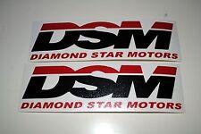 2 DSM Vinyl Decals Stickers - Talon Eclipse Laser Evo GVR4 4G63