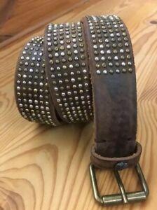 """Cintura Cinta Donna Vera Pelle T.Moro Borchie  Teschio """"Remake"""" Made in italy"""