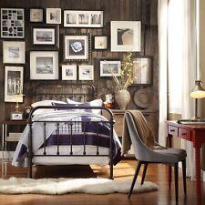 Full Size Antique Dark Bronze Metal Spindle Victorian Iron Vintage Frame Bed