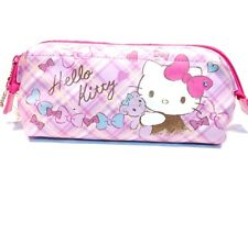 Hello Kitty PU Case Pencil Pen Stationery Holder Makeup Pouch Storage Bag Purse