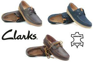 Clarks Mens Boat Deck Shoes Leather Casual Loafers Lace Up Gents Moccasin Smart