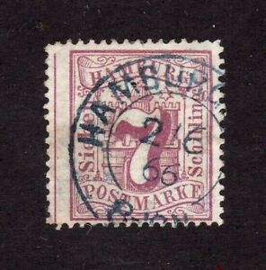 Hamburg stamp #20, used, German State,  SCV $125.00