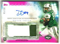 2015 Topps Inception JUMBO PATCH AUTOGRAPH MAGENTA DEVIN SMITH 49/50 AUTO Jets