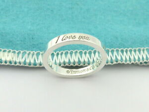 TIFFANY & CO Sterling Silver I Love You Ring Size 4.75