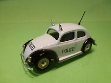 VITESSE VW VOLKSWAGEN BEETLE SPLIT WINDOW - POLICE POLIZEI - WHITE 1:43 - GOOD