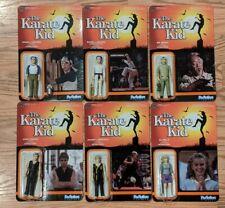 Funko Reaction Karate Kid Complete set of 6 Miyagi Kreese Johnny Ali Daniel NEW