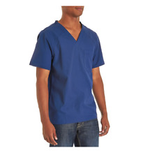 {2XL} Cherokee Flexibles Men's Knit Panel V-Neck Scrub Top NAVY