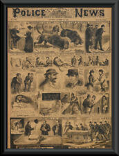 1888 Jack The Ripper Newspaper Cover Reprint On 100 Year Old Paper P029