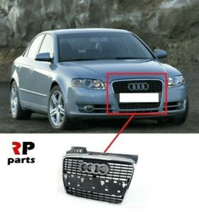 Per Audi A4 B7 2004-2008 Nuovo Paraurti Anteriore Centrale Griglia Cromata