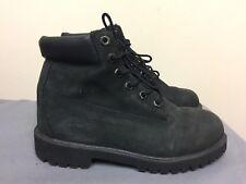 Timberland Hiking Trail Black Nubuck Boots 12907 Boys Size 4 EU 36 -UK 3.5