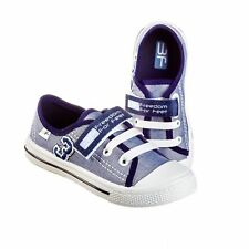 BOYS Canvas shoes trainers Real leather insoles size NEW TODDLER KIDS 10UK.