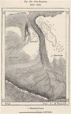 FUM ksantina (Timgad ruinas romanas). Argelia 1885 Antiguo Mapa Antiguo Cuadro De Plan