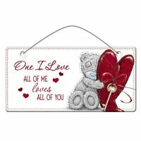 Me to You One I Love Plaque - Tatty Teddy Bear