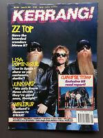 KERRANG MAGAZINE #346 June 1991 ZZ Top / Lisa Dominique / Junkyard