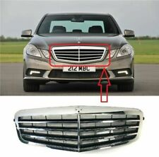 NEW MERCEDES BENZ E CLASS W212 2009-2013 FRONT KIDNEY GRILLE CHROME BLACK