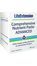 Life Extension Comprehensive Nutrient Packs ADVANCED multi fish oil coq10 30 day