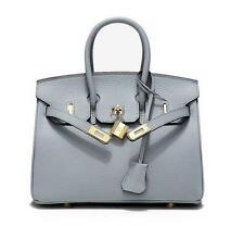 Womens Genuine Leather Embossed Shoulder Litchi handbag messenger lock Bag