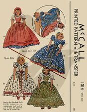 Reproduction Vintage Upside Down & Single Dolls Sewing Pattern M1014