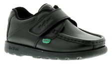 Boys/childrens Black Kickers Fragma3 Touch Fastening School Shoes. UK Sizes UK 11 Kids