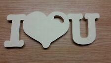 I love you  Schriftzug aus Holz Hochzeit Verlobung Liebe Geschenk