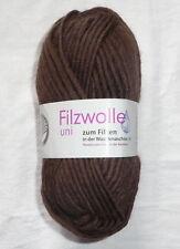 Gründl Filzwolle Uni Farbe 06- braun