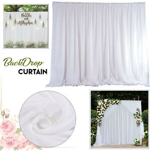 White Backdrop Curtain Wedding Birthday Photography Stage Drapes Masquerade