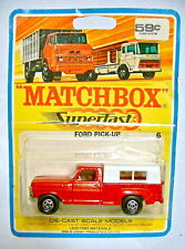 Matchbox Superfast nº 06a ford pick-up a escasos 1969 termosellada