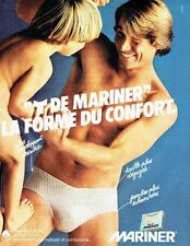 PUBLICITE ADVERTISING 027  1980  Mariner  sous vetements slip Y pour homme