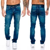Rock Creek Designer Herren Jeans Hose Raw Gerades Bein Straight-Cut RC-2100