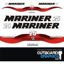 Mariner 25hp 4 stroke Bigfoot outboard decals/sticker kit