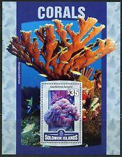 SOLOMON ISLANDS 2016 CORALS  SOUVENIR SHEET MINT  NEVER HINGED
