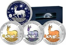 Gabun 2012 Silver Investment Coin Prestige Set Springbock 4 x 1 oz Silber RAR!