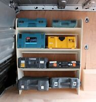 Renault Trafic Traffic 2015+ Toolbox Storage Van Racking Shelving OS Front